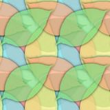 Безшовная предпосылка от зеленых листьев стоковые изображения