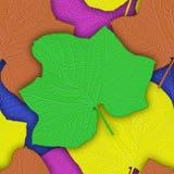 Безшовная предпосылка от зеленых листьев Стоковое фото RF