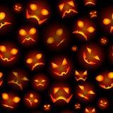 Безшовная предпосылка от тыкв на хеллоуин Стоковые Фото
