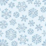 Безшовная предпосылка снежинок вышивки Элемент дизайна счастливого украшения Нового Года или рождества  иллюстрация вектора