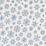 Безшовная предпосылка снежинок вышивки иллюстрация штока