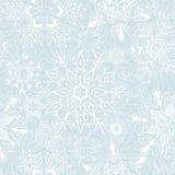 Безшовная предпосылка снежинок для зимы и chri Стоковая Фотография RF