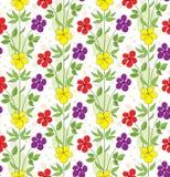 Безшовная предпосылка с декоративными цветками Стоковые Фотографии RF
