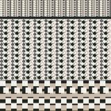 Безшовная предпосылка с квадратами и угловыми графическими объектами бесплатная иллюстрация