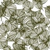 Безшовная предпосылка с листьями вала Стоковое Фото