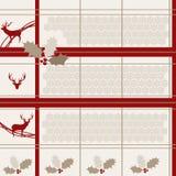 Безшовная предпосылка с оленями и лист бесплатная иллюстрация
