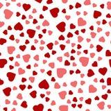 Безшовная предпосылка с различными покрашенными сердцами Стоковое Изображение RF
