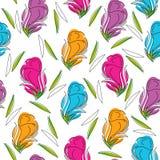 Безшовная предпосылка художнического розового цветка Стоковая Фотография