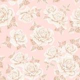 Безшовная предпосылка цветка с розами Стоковая Фотография