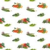 Безшовная предпосылка veggies на белизне Стоковые Фото