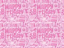 Безшовная предпосылка картины вечеринки по случаю дня рождения Doodle Стоковое Изображение RF