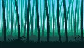 Безшовная предпосылка ландшафта с стержнями бамбука Стоковая Фотография RF