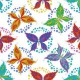 Безшовная предпосылка, бабочки Стоковое фото RF