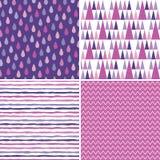 Безшовная предпосылка битника делает по образцу фиолетовый magenta пинк Стоковое Фото