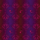 Безшовная предпосылка вектора с картиной виноградин и переплетенных лоз, цветков и аиста Стоковые Изображения RF