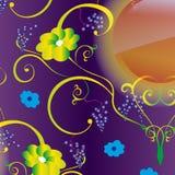 Безшовная предпосылка вектора с картиной лозы Стоковое Изображение