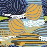 Безшовная предпосылка вектора с морской темой Иллюстрация штока