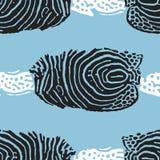 Безшовная предпосылка вектора с морской темой Иллюстрация вектора