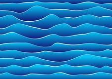 Безшовная предпосылка волны Стоковая Фотография