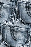 Безшовная предпосылка джинсовой ткани - текстура grunge Стоковое Фото