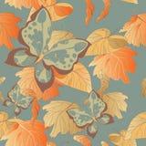 Безшовная предпосылка листьев Стоковые Фото
