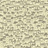 Безшовная предпосылка картины домов Стоковое Изображение RF