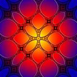 Безшовная предпосылка картины цветного стекла Стоковая Фотография