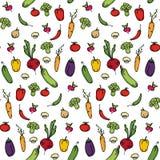 Безшовная предпосылка кухни овощей Стоковая Фотография RF