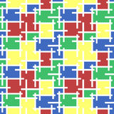 Безшовная предпосылка мозаики цветного стекла картины иллюстрация вектора