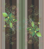 Безшовная предпосылка от орнамента цветков, модное современное Стоковое Изображение RF