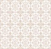 Безшовная предпосылка Пейсли с цветками Стоковое Фото