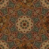 Безшовная предпосылка Пейсли, цветочный узор Цветастая орнаментальная предпосылка индийский орнамент Красивейший индийский орнаме Стоковое Изображение RF