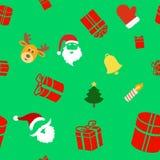 Безшовная предпосылка праздника с милым рождеством Стоковая Фотография RF