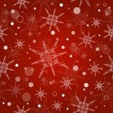Безшовная предпосылка рождества с снежинками Стоковое Изображение