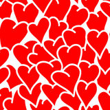 Безшовная предпосылка сердец Стоковая Фотография RF