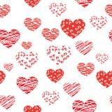 Безшовная предпосылка сердца - иллюстрация Стоковые Изображения RF