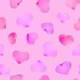 Безшовная предпосылка сердца 3d красный цвет поднял Стоковая Фотография