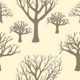 Безшовная предпосылка силуэтов деревьев Стоковые Фото