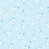 Безшовная предпосылка снеговика Стоковые Изображения RF