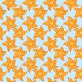 Безшовная предпосылка солнец или звезд Стоковые Изображения