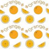 Безшовная предпосылка с апельсинами Стоковые Изображения