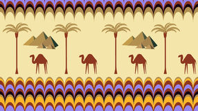 Безшовная предпосылка с верблюдами Стоковое Изображение RF