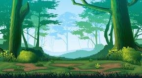 Безшовная предпосылка с лесом Стоковые Фотографии RF