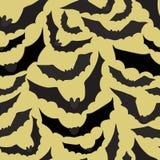 Безшовная предпосылка с летучими мышами также вектор иллюстрации притяжки corel Стоковые Изображения