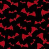 Безшовная предпосылка с летучими мышами Стоковая Фотография