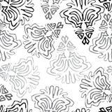 Безшовная предпосылка сделанная экзотической картины в черном и сером col иллюстрация вектора