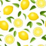 Безшовная предпосылка с лимонами. иллюстрация штока