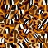 Безшовная предпосылка с иллюстрацией пушистой кожи животных иллюстрация штока