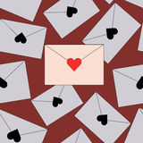 Безшовная предпосылка с конвертами писем Стоковые Фото