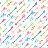 Безшовная предпосылка с красочными стрелками - 2 иллюстрация вектора